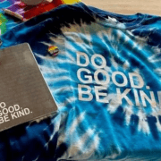 Do Good Be Kind Blue Together Tee Flat