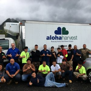 Hawaiian Volunteers delivering to Recipient Agency